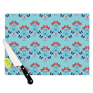 KESS InHouse Bows Cutting Board; 11.5'' H x 15.75'' W x 0.25'' D