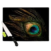 KESS InHouse Peacock Cutting Board; 11.5'' H x 8.25'' W x 0.15'' D