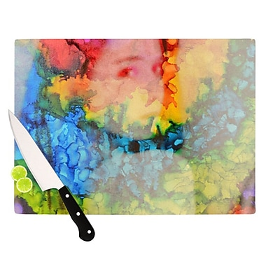 KESS InHouse Rainbow Splatter Cutting Board; 11.5'' H x 8.25'' W x 0.25'' D