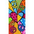 Kaufman Sales Peace Heart Beach Towel