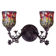 Meyda Tiffany Rosebud 2 Light Wall Sconce