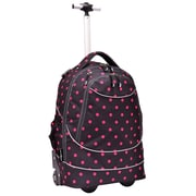 Pacific Gear Horizon Rolling Laptop Backpack; Red and Black