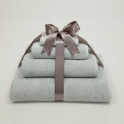 Linum Home Textiles Luxury Hotel & Spa 100pct Turkish Cotton Soft Twist 4 Piece Towel Set; Soft Aqua