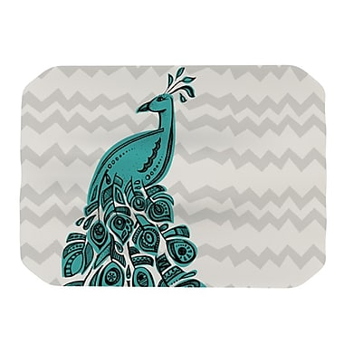 KESS InHouse Peacock Placemat; Blue