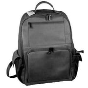 David King Large Front Zip Laptop Backpack; Black