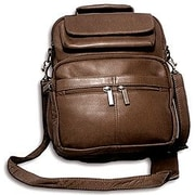 David King Large Men's Shoulder Bag; Caf  / Dark Brown