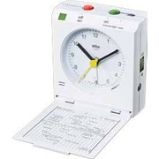 Braun Travel Alarm Clock; White