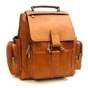 Le Donne Leather Multi Pocket Backpack; Tan