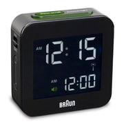 Braun Digital Alarm Clock; Black