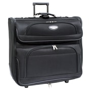 Traveler's Choice Amsterdam Two Tone Rolling Garment Bag; Black