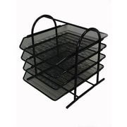Buddy Products® Mesh 4 Tier Letter Tray, Black