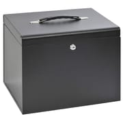 Buddy Products® Business/Personal Hanging File Box With Two Keys, Black
