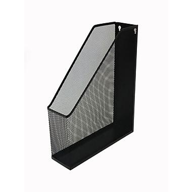 Buddy Products® Single Mesh Magazine File Holder, Black
