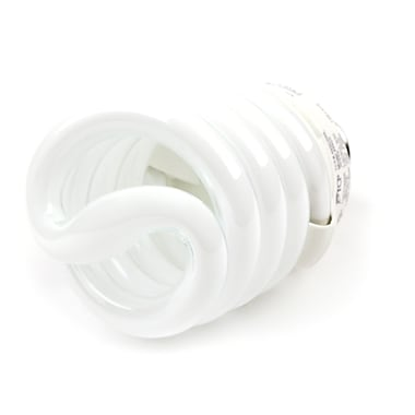 TCP SpringLamp® 23 Watt 120 Volt Spiral CFL Bulbs, Soft White