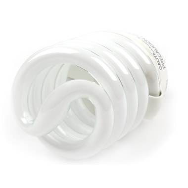 TCP SpringLamp® 23 Watt 120 Volt Spiral CFL Bulbs, Cool White, 4/Pack