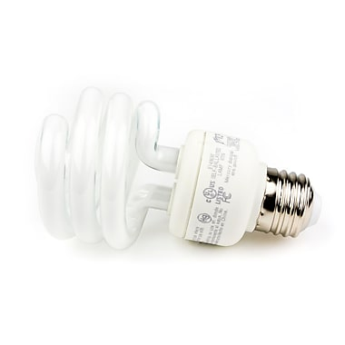 TCP SpringLight SpringLamps® 19 Watt 120 Volt Spiral CFL Bulbs, Bright White, 12/Pack