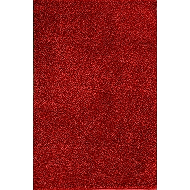 Meva Rugs Royal Shag Red Rug; 5' x 7'7''