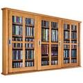 Leslie Dame Triple Glass Door Multimedia Wall Mounted Cabinet; Oak