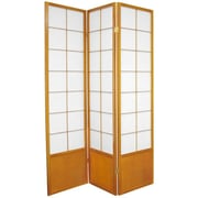 Oriental Furniture 70.25'' x 42'' Asian Zen 3 Panel Room Divider; Honey