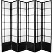 Oriental Furniture 83.5'' x 84'' Double Cross Shoji 6 Panel Room Divider; Black