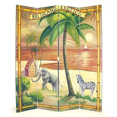 Oriental Furniture 72'' x 64'' Big Island Screen 4 Panel Room Divider