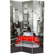Oriental Furniture 71'' x 47.63'' New York City Taxi 3 Panel Room Divider
