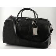 Tony Perotti Verona 21.26'' Italian Leather Weekender Duffel; Black