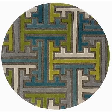 LR Resources Vibrance Geometric Puzzle Rug; Round 5'