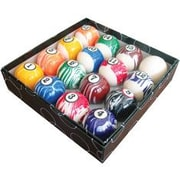 Action Action Billiard Balls 16 Piece White Marble Ball Set