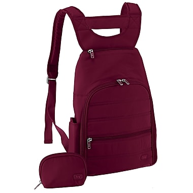 Lug Parachute Mini Backpack; Cranberry Red