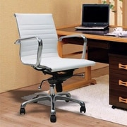 Manhattan Comfort Metro Mid-Back Office Chair with Arms; White