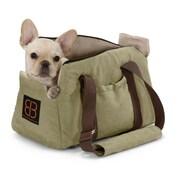 PetEgo Velvet Bitty Bag Pet Carrier; Sage - Stone