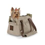 PetEgo Velvet Bitty Bag Pet Carrier; Stone - Sage