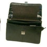 Bond Street Executive Leather Briefcase; Black