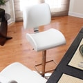 LumiSource Locust 24'' Adjustable Swivel Bar Stool; White