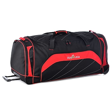 Olympia Mammoth 40'' 2 Wheeled Duffel; Red