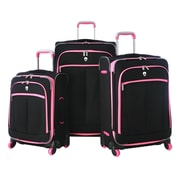 Olympia Evansville 3 Piece Luggage Set; Pink