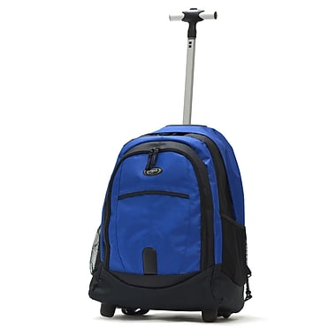 Olympia 19'' Rolling Backpack; Blue