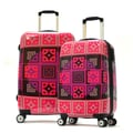 Olympia New Age Art Series 2 Piece Luggage Set; Raspberry Pink