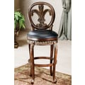 Hillsdale Fleur De Lis 25'' Swivel Bar Stool with Cushion
