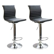 Buffalo Tools Ameri Home Adjustable Height Swivel Bar Stool with Cushion (Set of 2)