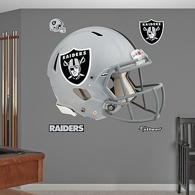 Fathead NFL Revolution Helmet Wall Decal; Oakland Raiders WYF078276136835