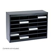 Safco Products Steel Literature Organizer with 24 Letter-Size Compartments; Black