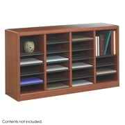 Safco Products Wood E-Z Stor Literature Organizers; 24 Sections