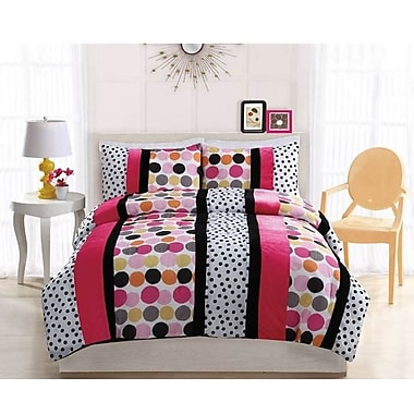 Bed Ink Dani Dot Hot Comforter Set; Twin