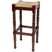 Oriental Furniture Classic 29'' Bar Stool; Cherry