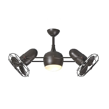Matthews Fan Company 39'' Dagny 6 Blade Dual Ceiling Fan with Wall Remote; Textured Bronze