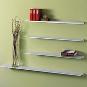 Peter Pepper Envision  Aluminum Floating Wall Shelf; 12''