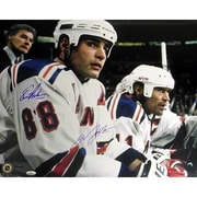 Steiner Sports NHL Lindros / Messier Rangers Home Bench Dual Photograph