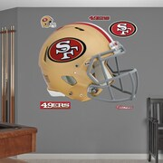 Fathead NFL Revolution Helmet Wall Decal; San Francisco 49ers
